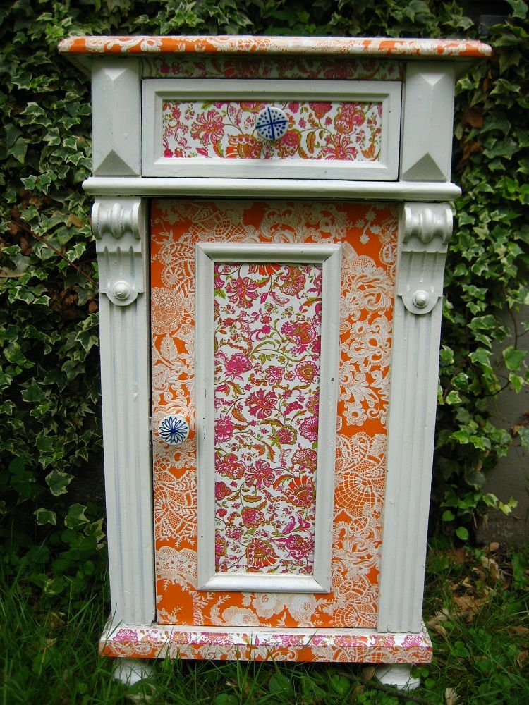 diy redecorating furniture using decopatch paper and glue cupboard decorating with i11 furniture