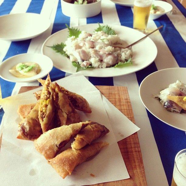 今月の料理会〜親孝行したくなる初夏の和食  #dbs料理会 - @dbsk- #webstagram