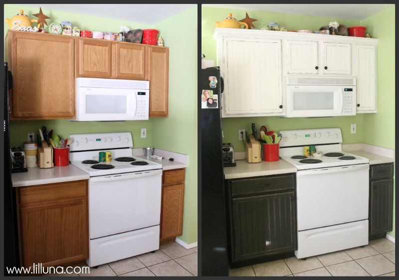 Kitchen Cabinet Makeover - 2... So want to do this to my kitchen ...