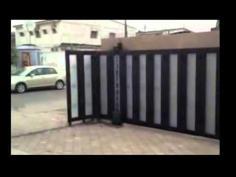 Around the corner sliding gates self supported swing - Sliding main gate design for home ...