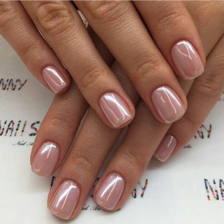 Pink mother of pearl nail polish # nail ideas #nail polish #colors # 2018 #trends –