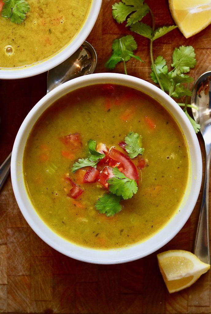 Indian Mulligatawny Soup (Vegan) - The Cheeky Chickpea