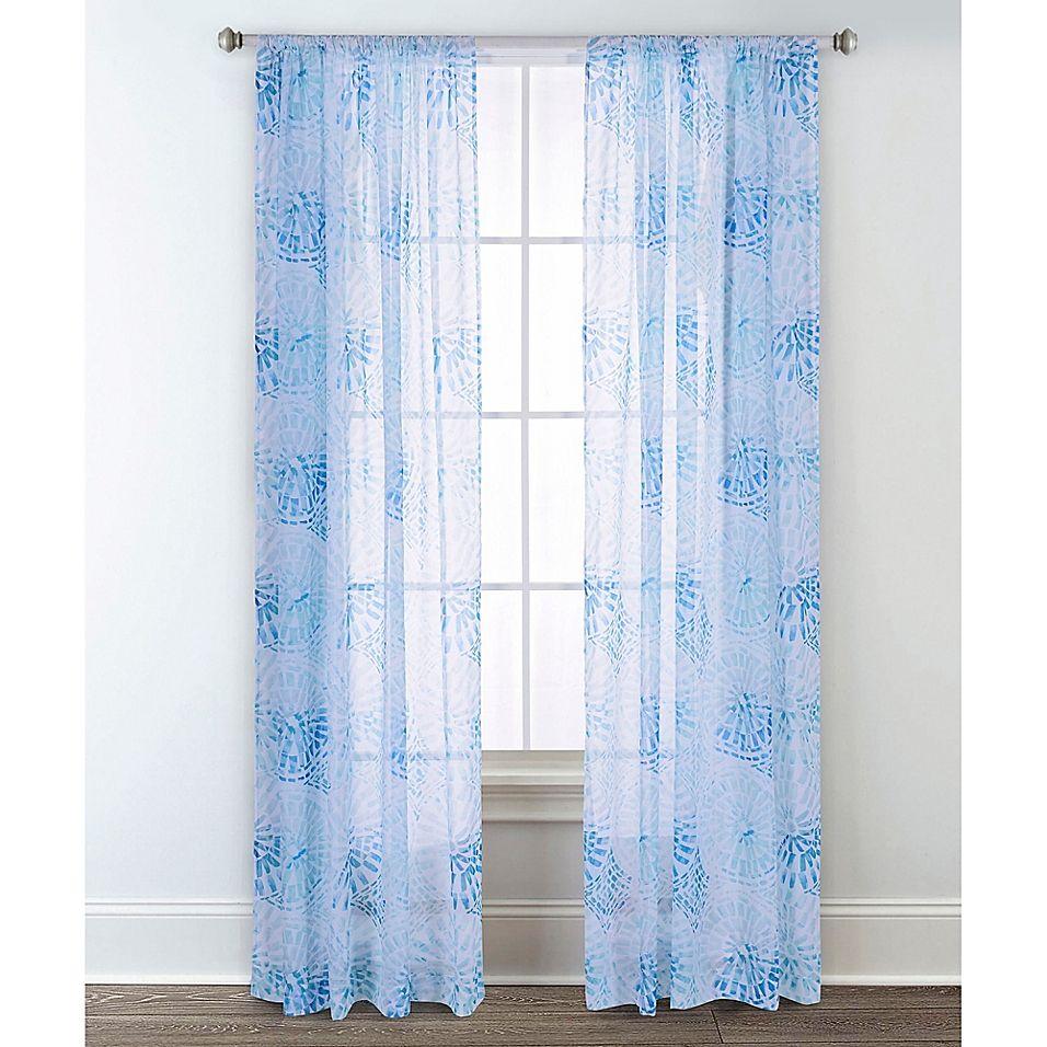 Sara B Collection Sundial 95 Rod Pocket Window Curtain Panel Pair Multi Sheer Curtain Panels Panel Curtains Unique Curtains