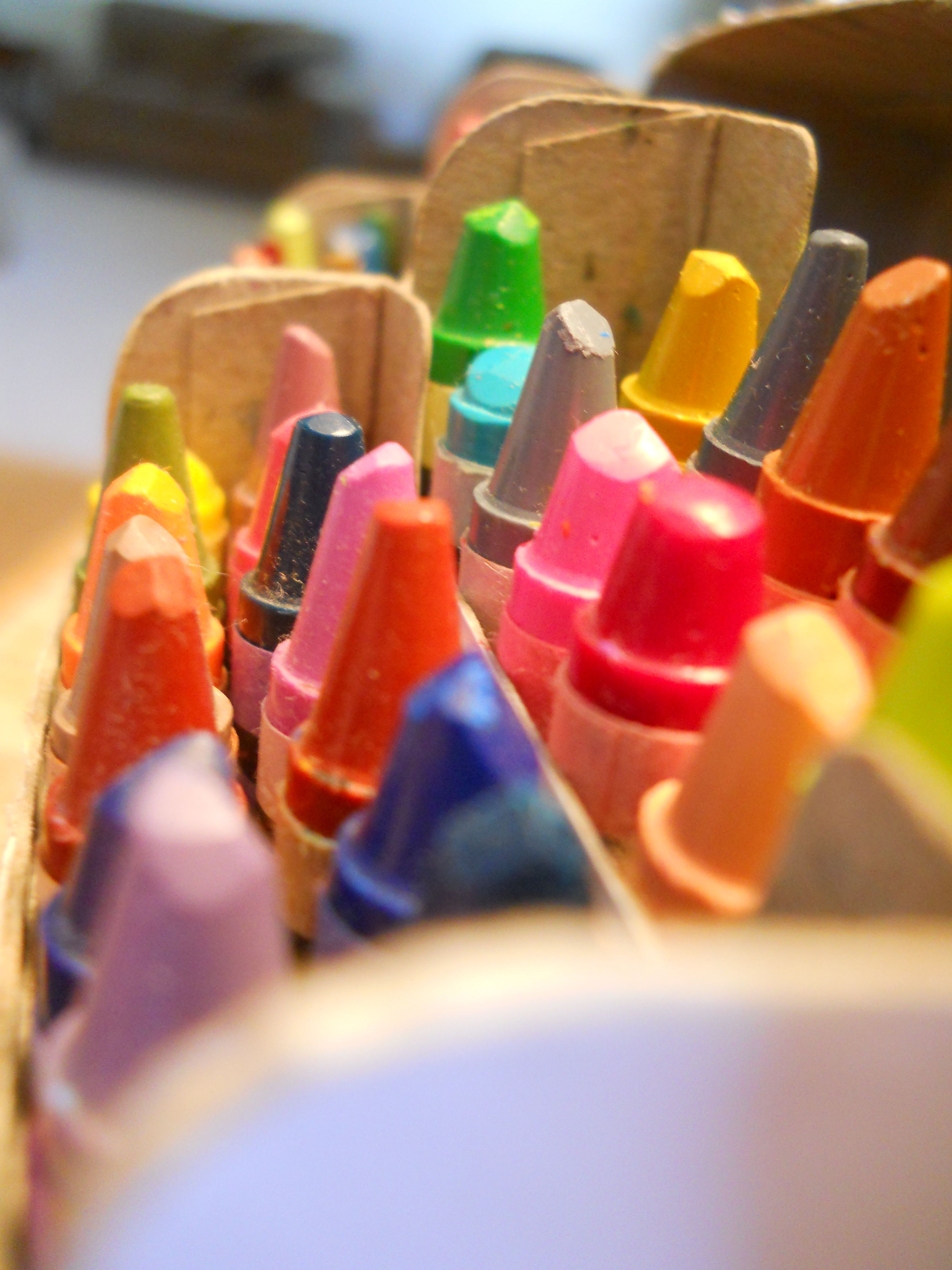 "I love the way a new box of crayons smells!  It makes me happy to think about ""what can be""  :) jw"