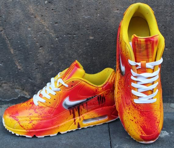 Bill Graffiti Max Peint Air Kill SangEtsy Nike Personnalisé 90 Ivbgf76Yy