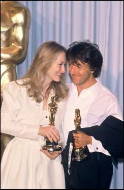 Actress Meryl Streep, winner of the Best Actress award, and Dustin Hoffman, winner of the Best Actor... - Bertrand Rindoff Petroff via Getty Images