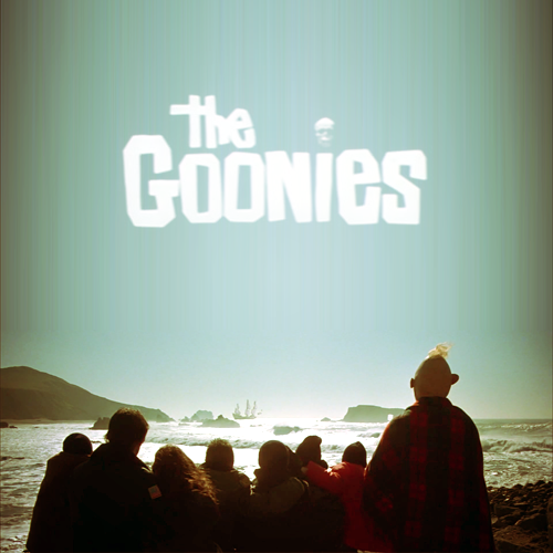 The Goonies -The next time you see sky, it'll be over another town. The next time you take a test, it'll be in some other school. Our parents, they want the bestest stuff for us. But right now they gotta do what's right for them, 'cause it's their time. Their time, up there. Down here it's our time. It's our time down here. That's all over the second we ride up Troy's bucket.