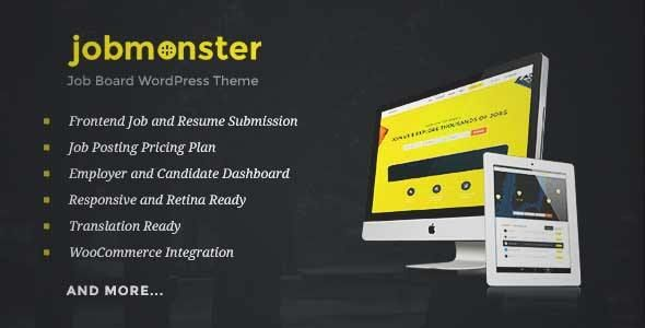 Download and review of Jobmonster - Job Board WordPress Theme, one ...