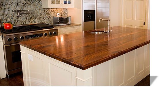Like The Wood Countertops With Stainless Sink And Faucet Allen