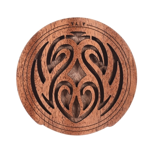 8.16$  Buy here  - Guitar Wooden Soundhole Sound Hole Cover Block Feedback Buffer Mahogany Wood for EQ Acoustic Folk Guitars
