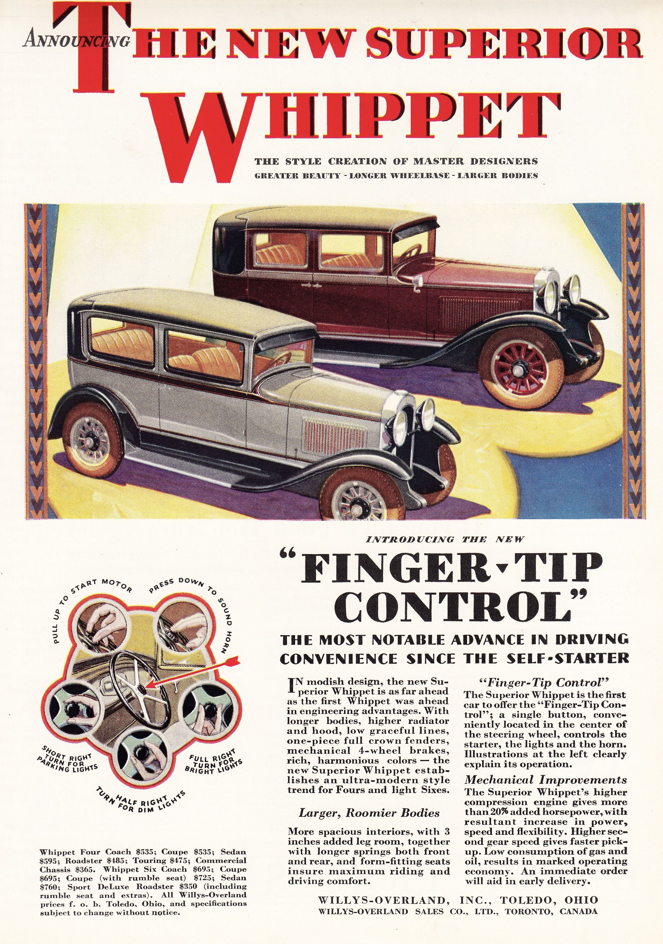 Willys Overland Whippet 1929 Vintage Cars Whippet Automobile Advertising