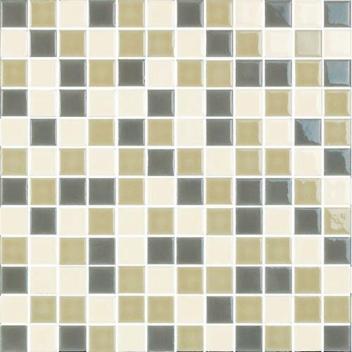 "H-Line 1"" x 1"" - Nautilus/Alabaster/Straw Mosaic By SouthCypress.com"
