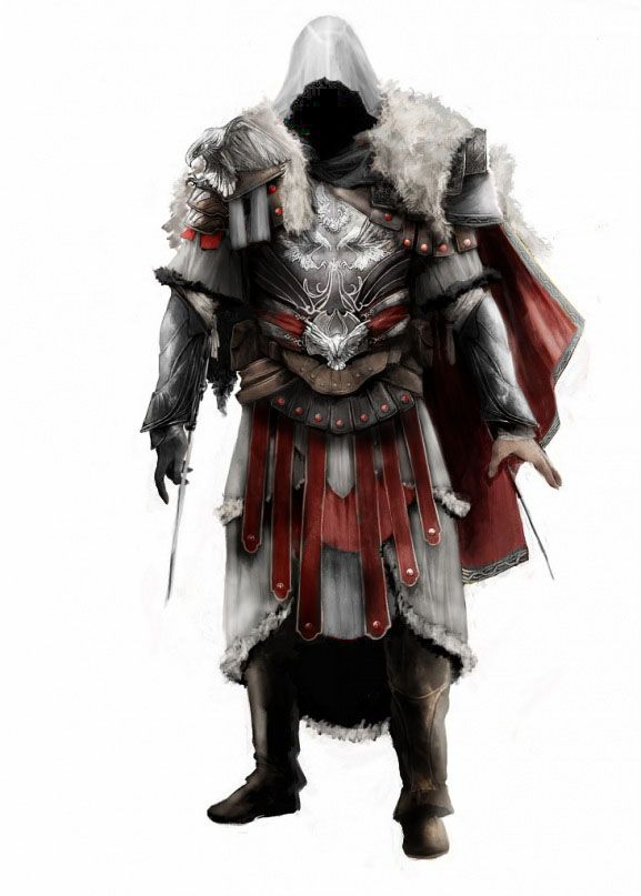 Ezio New Armor By Britolitos96 Assassins Creed Artwork