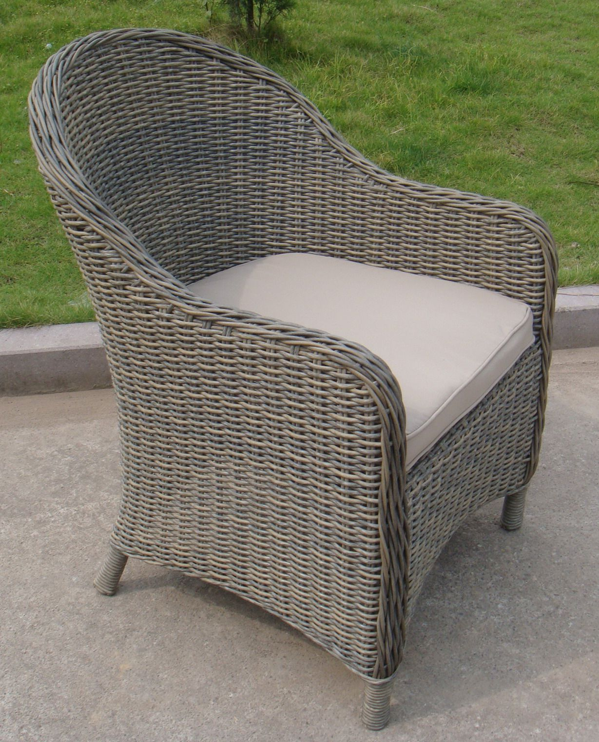 Verniciare Sedia Vimini Rounded Wicker Dining Chair Rattan Wicker Pinterest