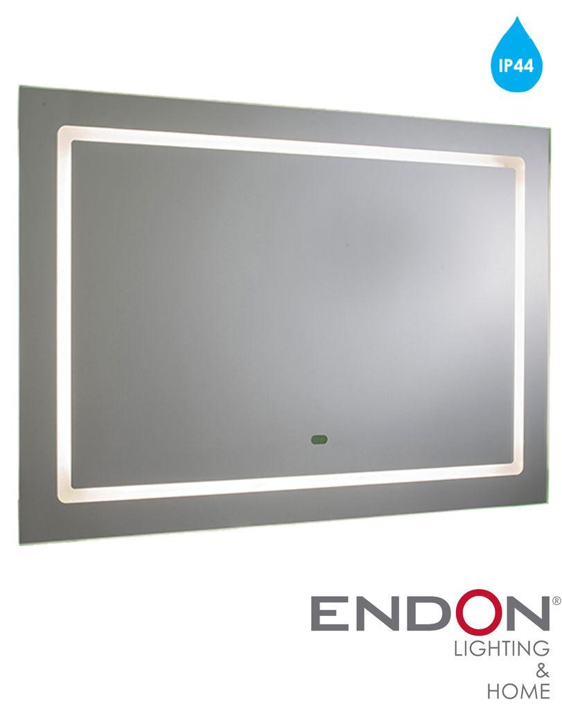 Endon Valor Ip44 10w Led Illuminated Mirror Mirrored Glass  # Muebles Zb Zaragoza