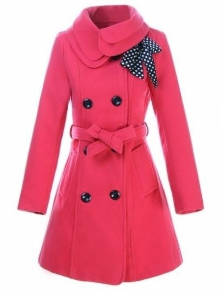 Sweet Turn Down Collar Bowknot Trench-coat 8 Color - stylishplus.com
