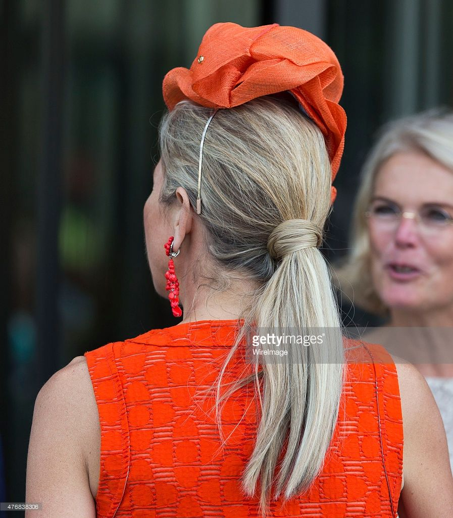 Queen Maxima of The Netherlands leaves after opening the Juliana Kinderziekenhuis (Children's Hospital) on June 12, 2015 in The Hague Netherlands.   (Photo by Michel Porro/WireImage)