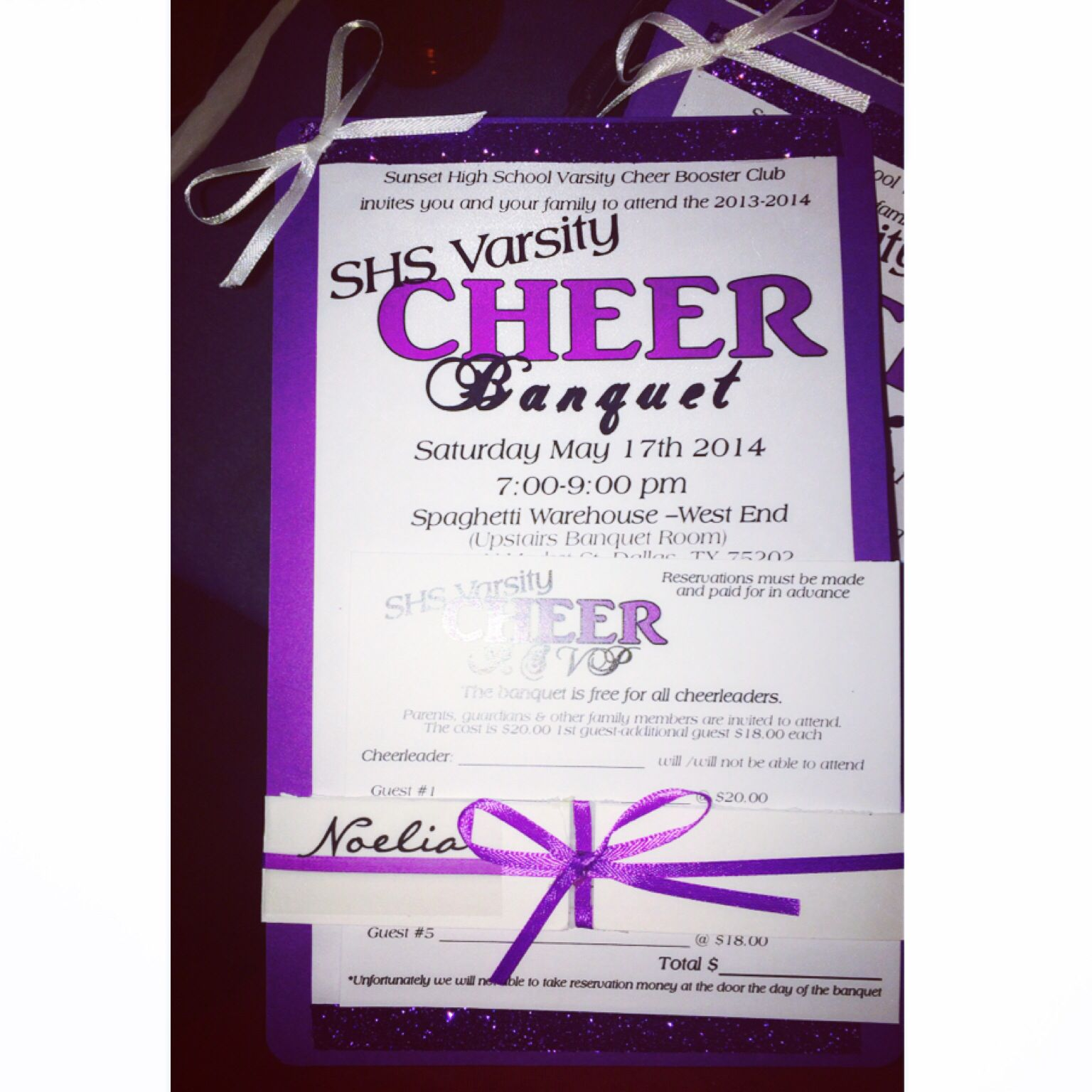 cheerleading banquet invitation ideas | Cheer banquet invite- but ...