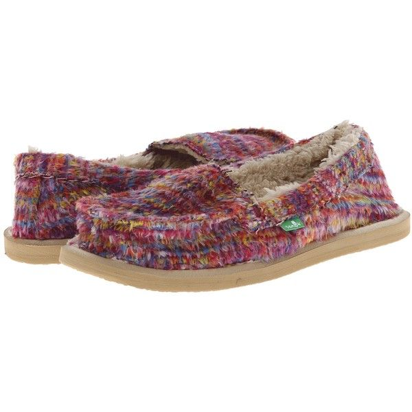 Sanuk Meltaway (Cerise Multi) Women's Shoes ($36) ❤ liked on Polyvore  featuring