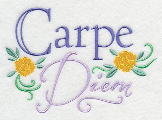 Carpe Diem Design K7709 From Emblibrary My Awesome
