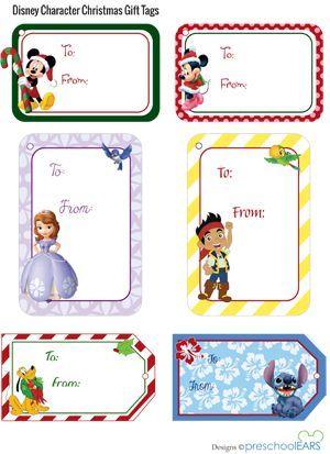 Printable disney christmas gift tags pinterest cute disney christmas gift tags that are free printables love the sofia and jake tags negle Gallery
