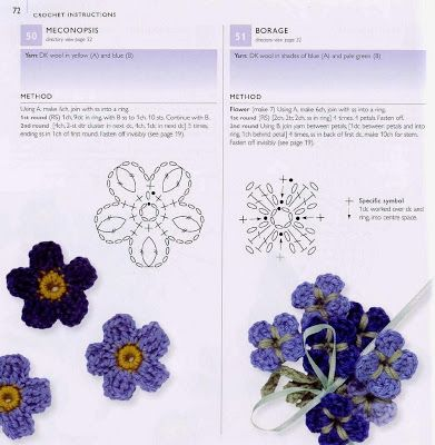 Crochet Flower Diagram Crochet Flowers Pinterest Crochet