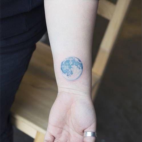 Realistic Style Blue Moon On The Wrist Tattoo Artist Sol