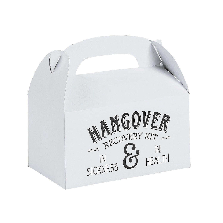 Hangover Rescue Wedding Favor Boxes | Oriental Trading