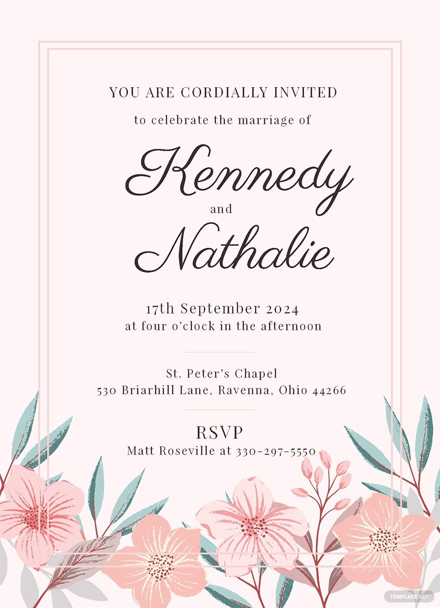 Marriage Invitation Card Template Illustrator Word Apple Pages Psd Publisher Template Net Marriage Invitations Marriage Invitation Card Marriage Cards