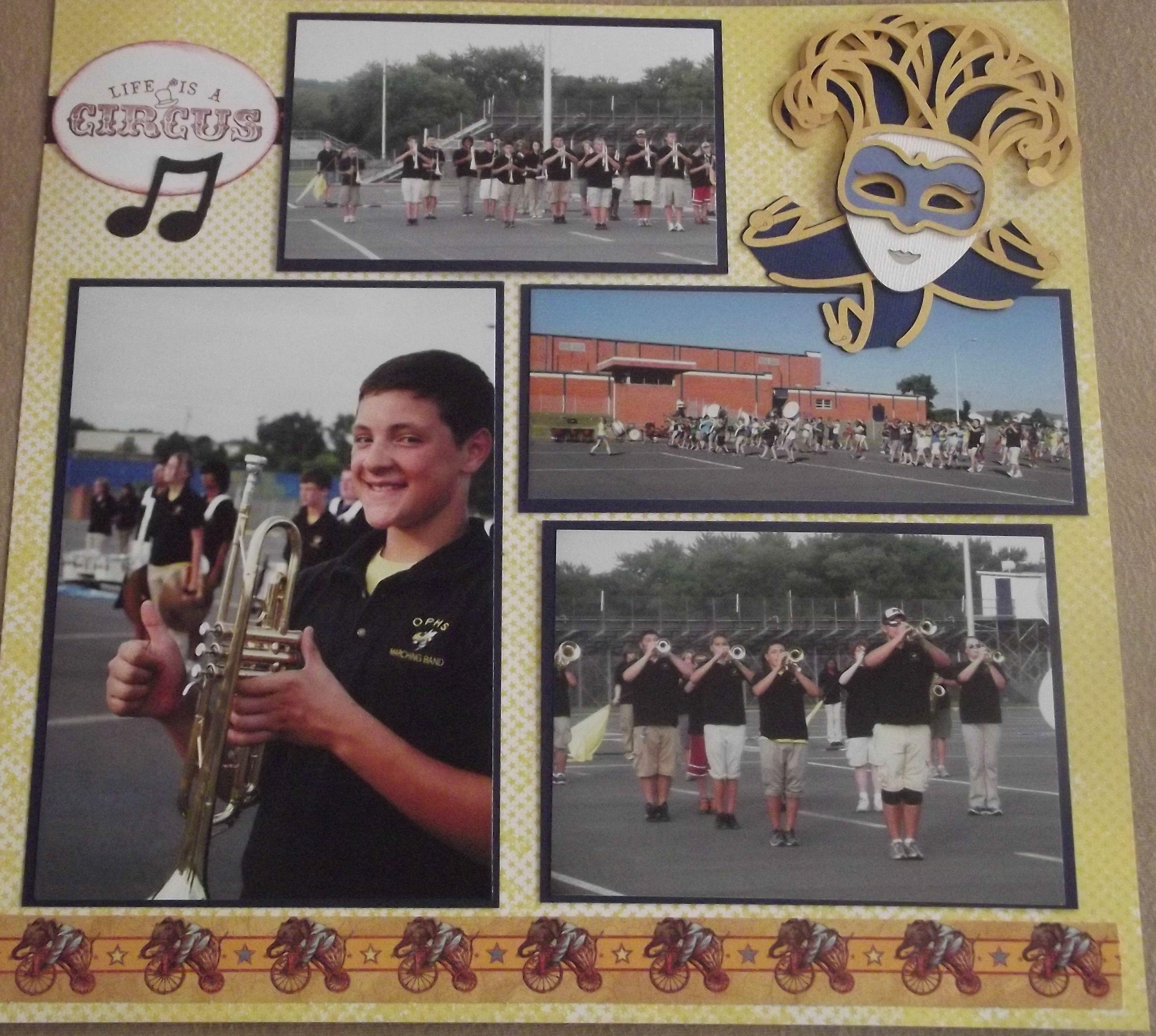 Scrapbook ideas graduation - High School Marching Band Layout Page 4 Scrapbook Com