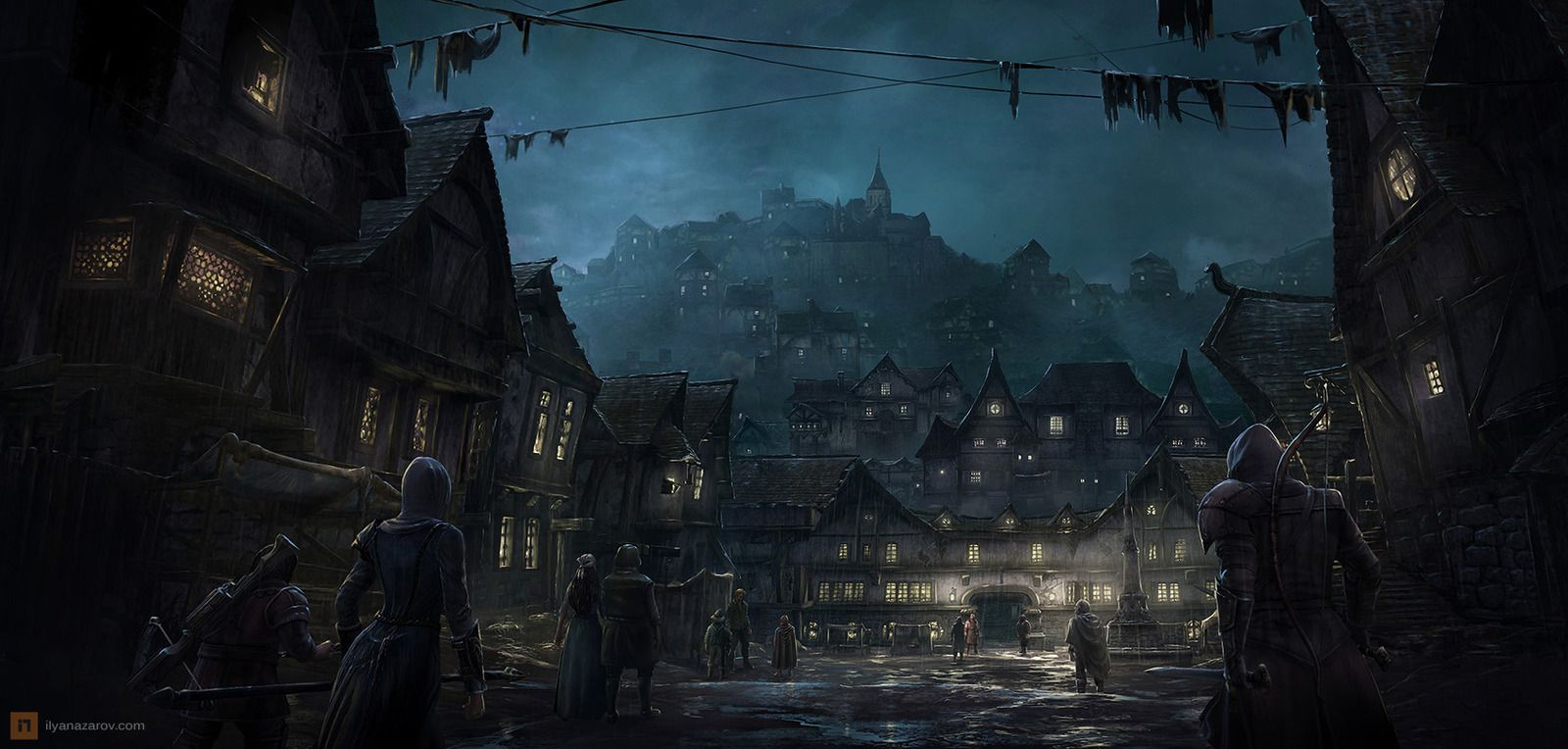Fantasy Medieval Town Gallery for fantasy town art ...