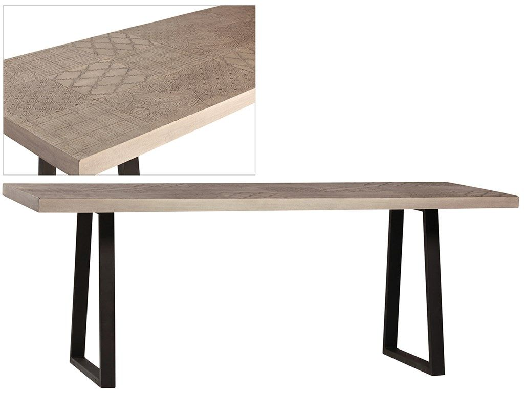 Dovetail Dov8713 Dining Room Miller Dining Table Narrow Dining