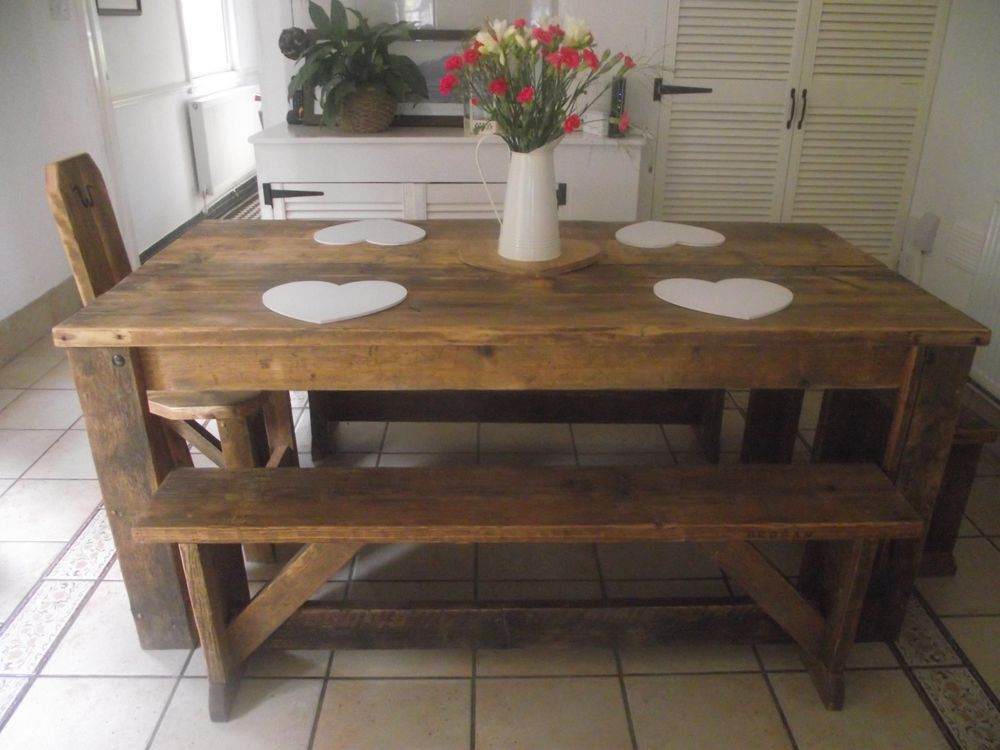 Handmade Reclaimed Wheelchairmobility Access Wood Dining Table Prepossessing Handmade Dining Room Chairs Decorating Design