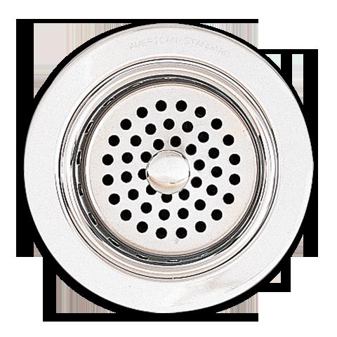 Kitchen Sink Drain Detail Circles Pattern Metal