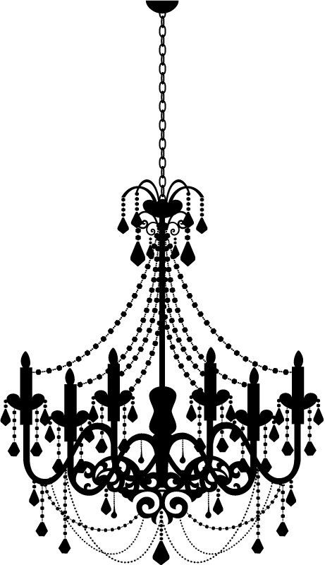 Chandelier Wall Decal Clipart Clipart Kid In Chandelier Wall Art For