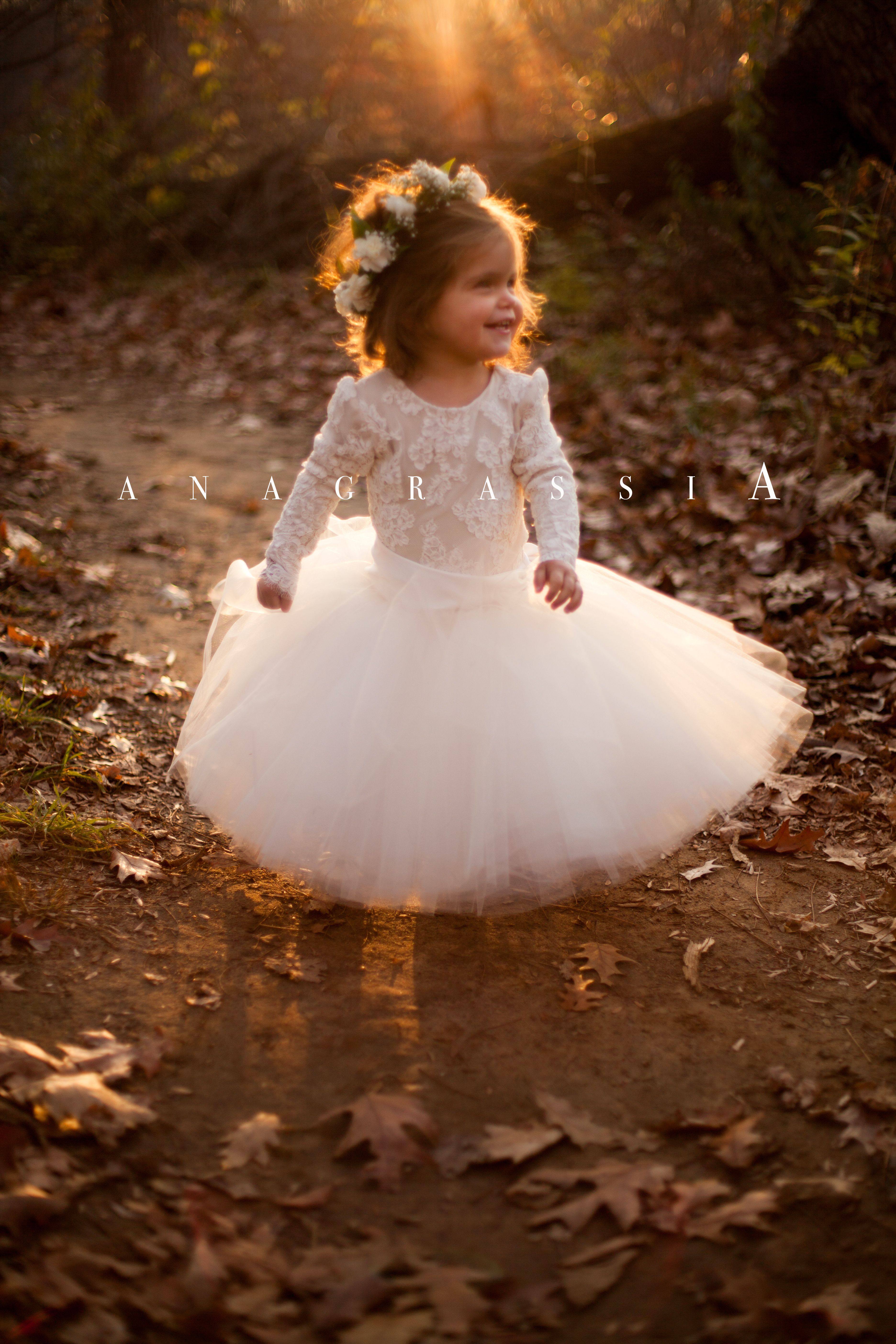 Flower girl dress. Champagne dress. Rustic flower girl dress ...