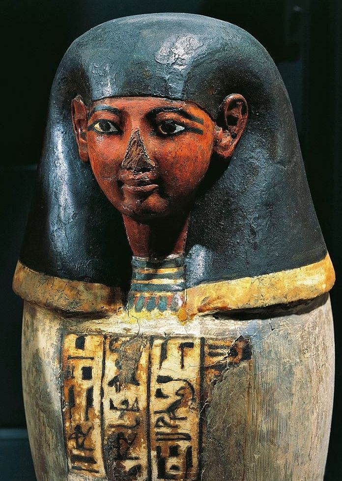 Amnte Nofre Egyptian Religion Pseudo Canopic Jar With The Head
