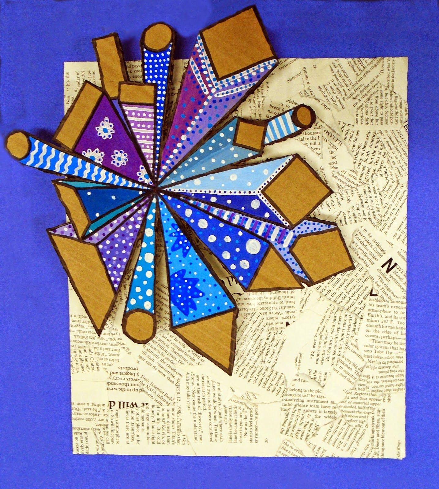 And Create Cardboard Squares To Support The Relief See
