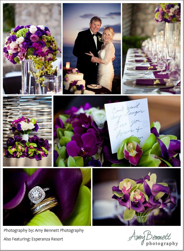 Purple And Lime Green Wedding Inspiration