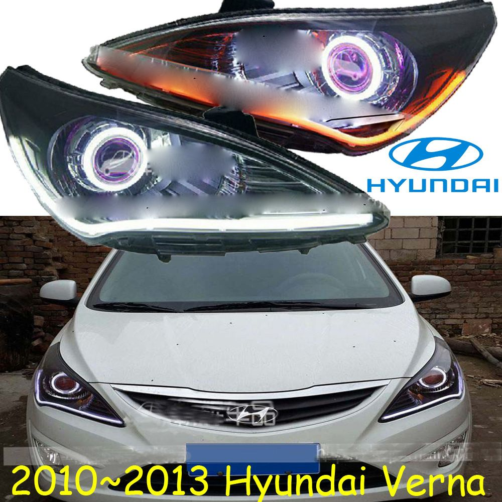 Car Styling Verna Headlight 2011 2013 Free Ship I Chrome Verna Fog Led Verna Head Lamp Veracrus Accent Elantra Genesis I10 I20 Hyundai 2010 Elantra Car