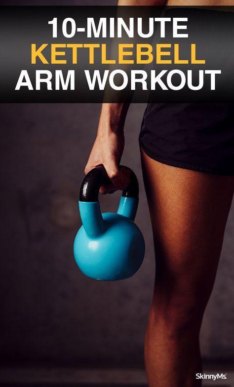 10-Minute Kettlebell Arm Workout