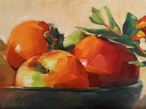 """Bowl of Red Fruit"" - Original Fine Art for Sale - © Cheryl Wilson  w"