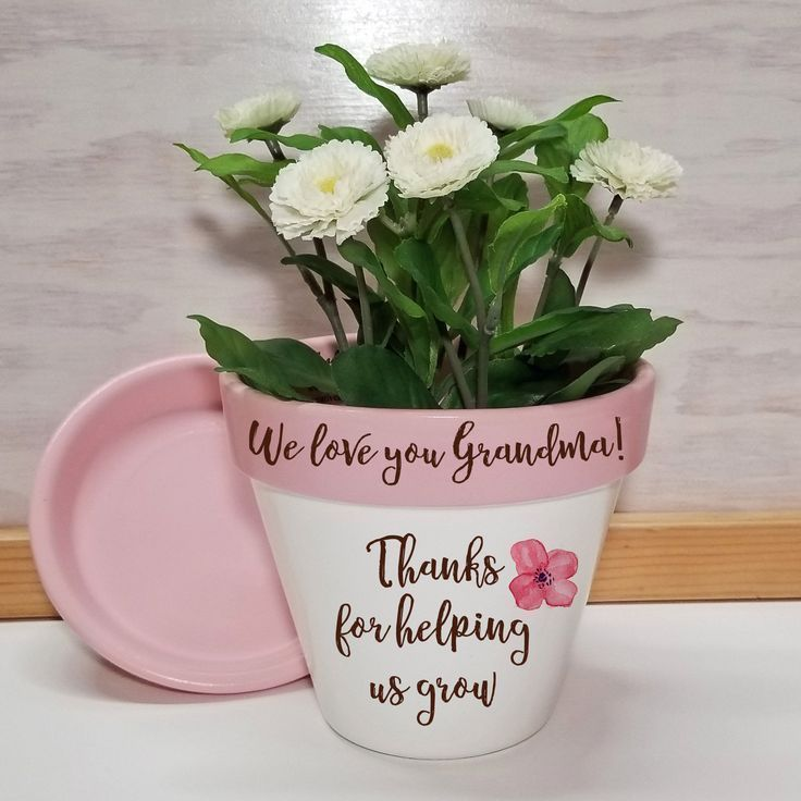 Flower pot in 2020 personalized flower pot mothers day