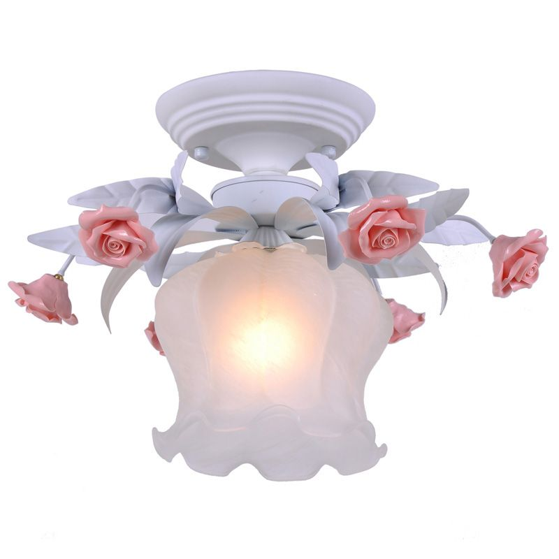 Pastoral flowers princess room ceiling lamp european fashion bedroom pastoral flowers princess room ceiling lamp european fashion bedroom ceiling lights hallway balcony fixtures mozeypictures Image collections