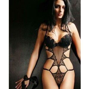 5caca852a Black Sheer Sexy Spider Teddy - Jolidon Designer Lingerie - Polyvore ...