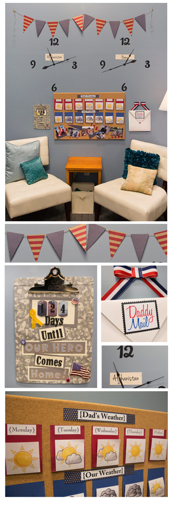 Military families find creative ways to help get through the many days and nights of deployment. One popular way is a deployment wall.