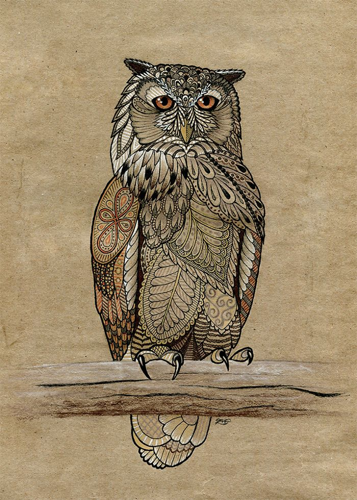 I Draw Intricately Patterned Animals Draw Pinterest Animal Classy Patterned Animals