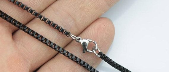 20pcs 30inch 2mm 316L stainless steel black color by aliyafang, $56.00