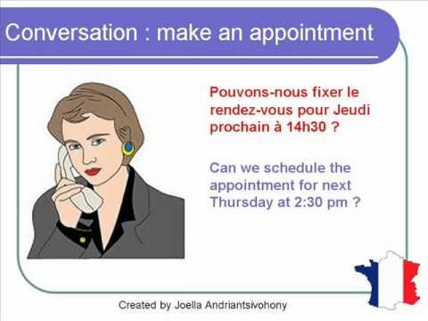 French Lesson 65 - Make an appointment on the phone - Dialogue