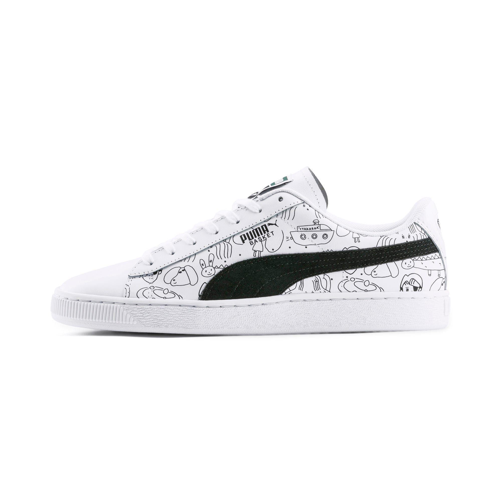 chaussure puma noir et blanc